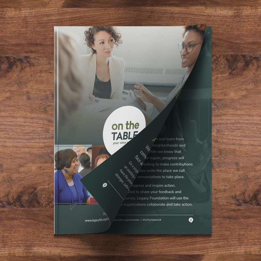 Booklet cover design for a non-profit foundation in Merrillville, Indiana