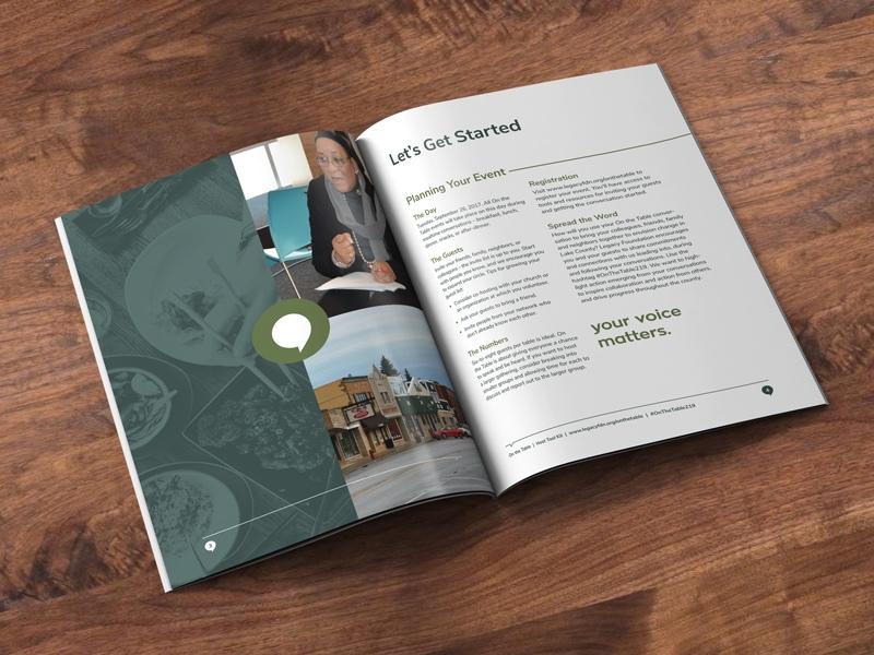 Legacy Foundation informational booklet layout design