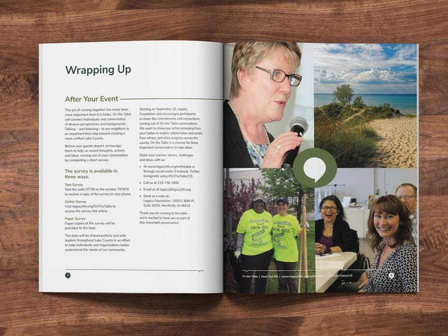 Booklet design for Northwest Indiana foundation marketing campaign