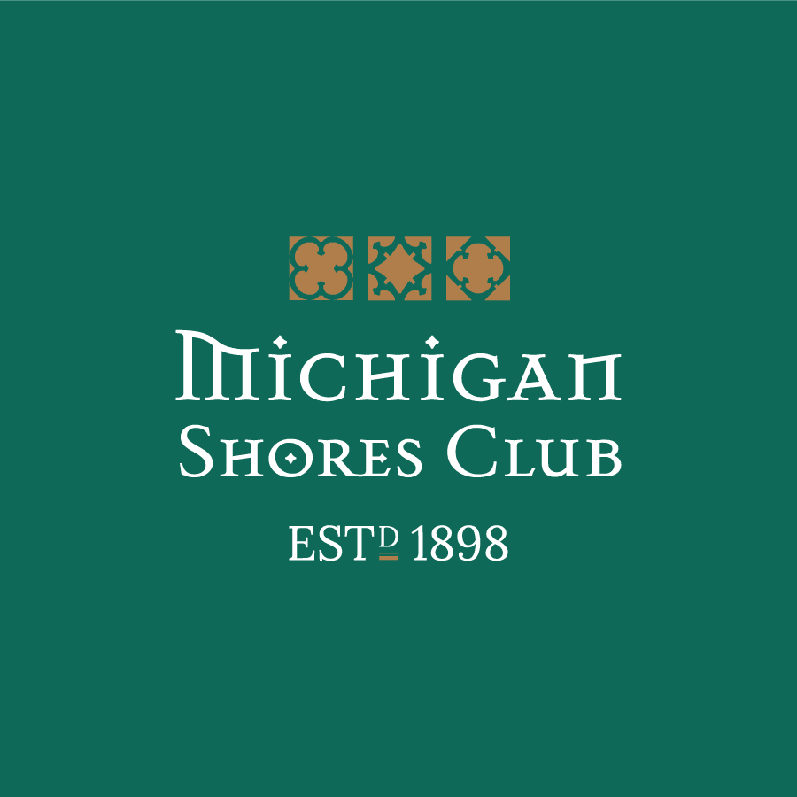 Country club wordmark logo design for Michigan Shores Club