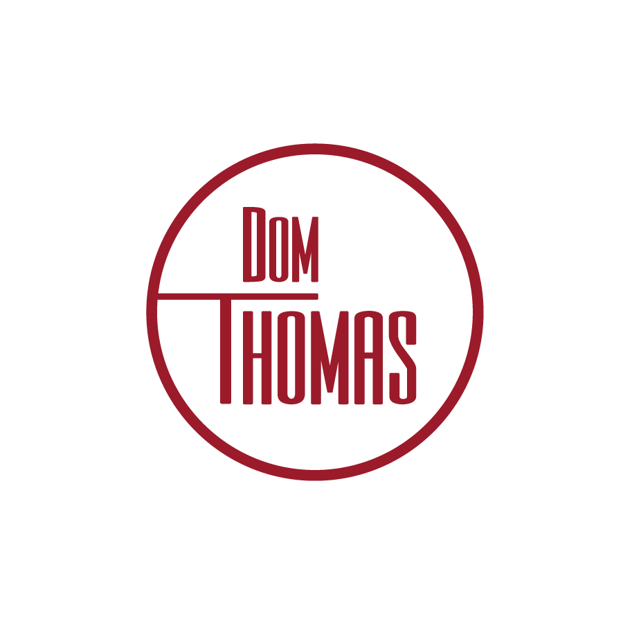 Jazz Singer wordmark logo for St.Louis based artist Dom Thomas