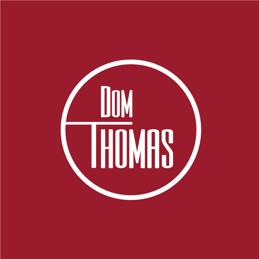 Jazz musician wordmark logo for St.Louis based artist Dom Thomas