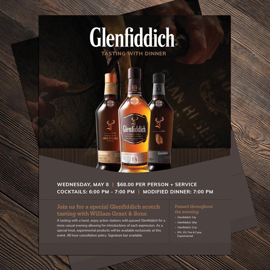 Advertisement design for malt whiskey distillery, Glenfiddich Whiskey