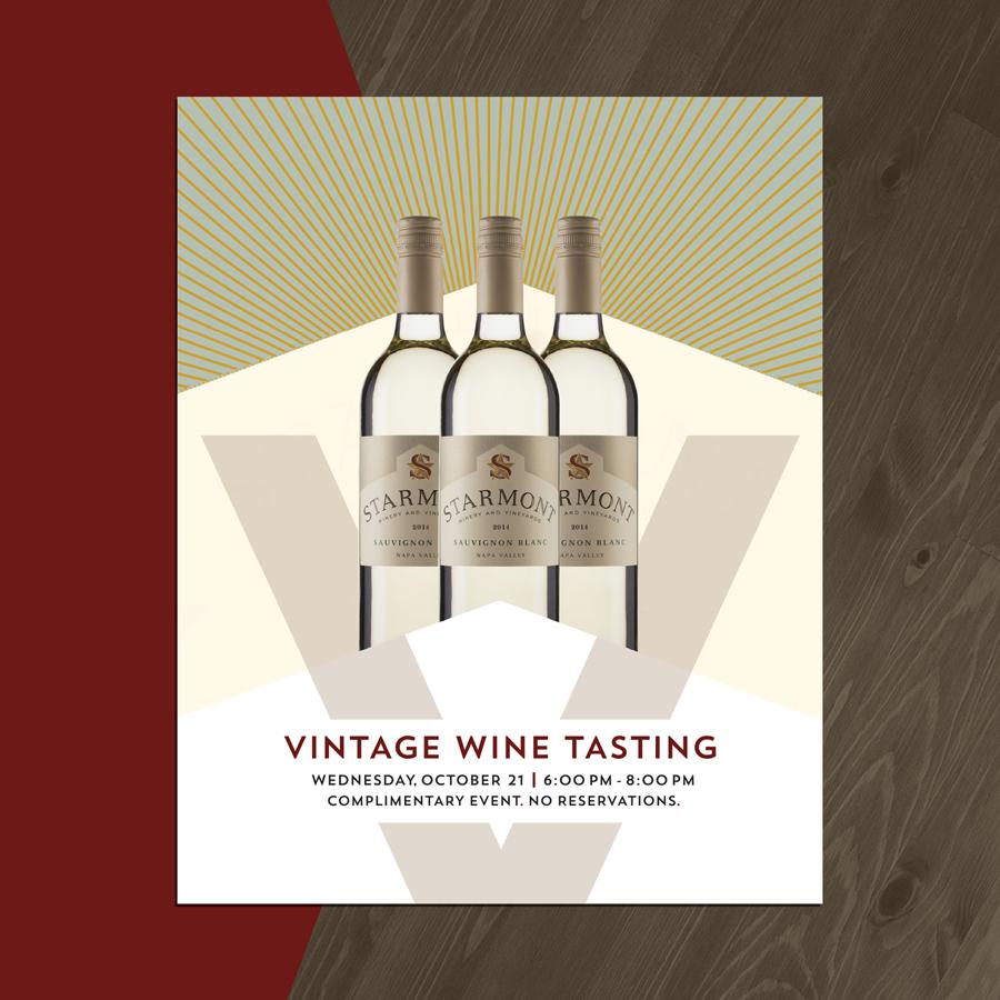 Wine advertisement design for Starmont Vintage Wine