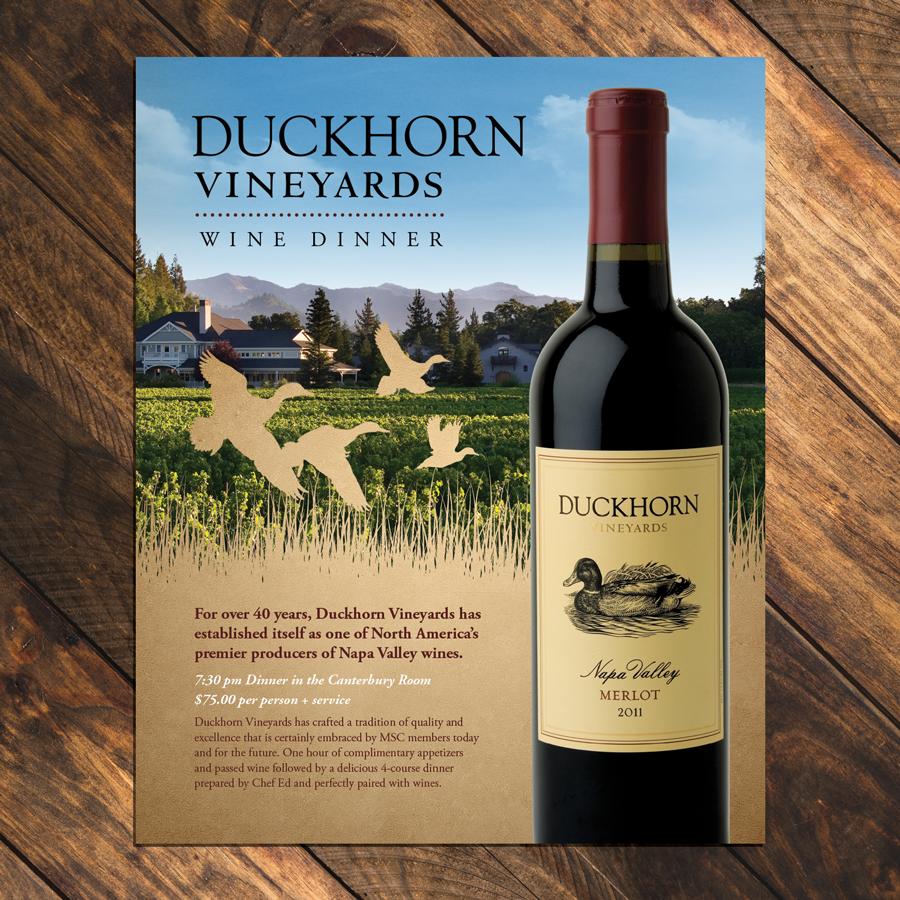 Advertisement Design for Duckhorn Wine