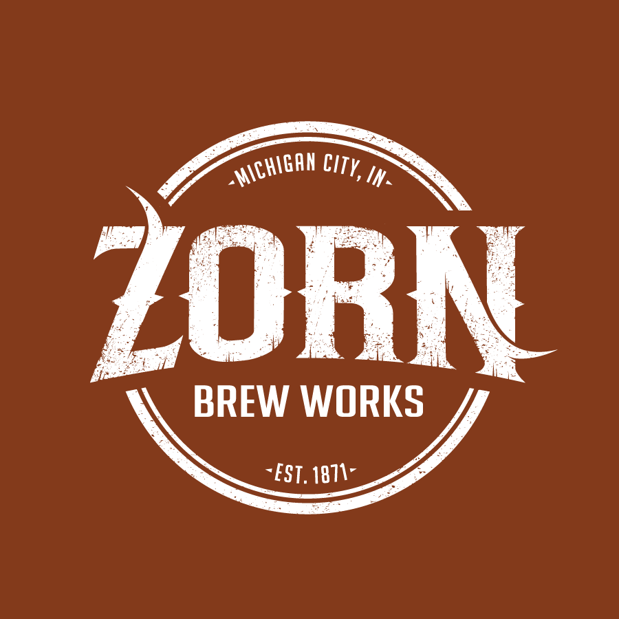 Brewery logo design for Zorn Brew Works in Michigan City, Indiana