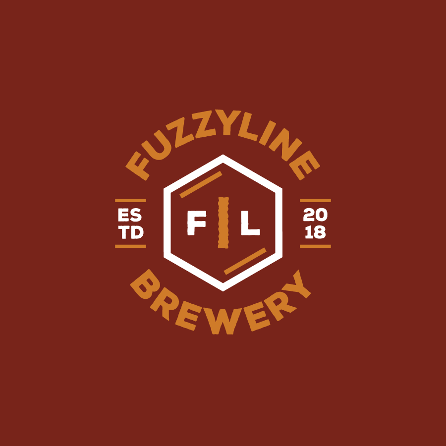 Brewery Logo Design for Fuzzyline Brewery