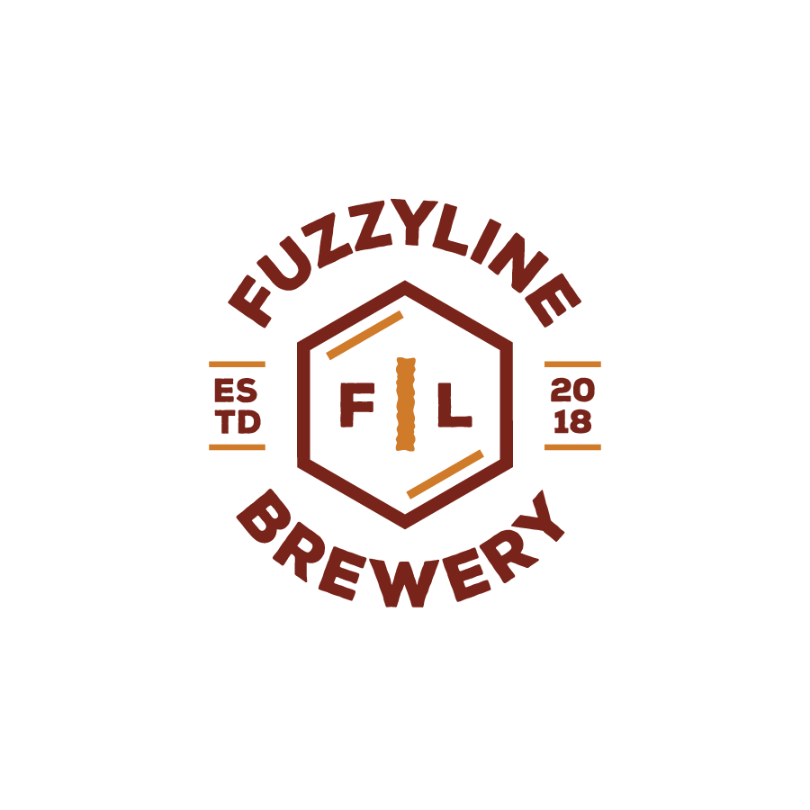 Brewery Logo Design variation for Fuzzyline Brewery