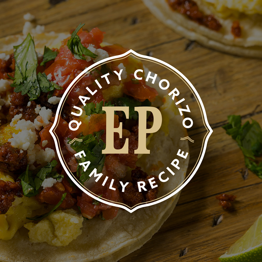 Family recipe emblem logo design for a mexican food manufacturer
