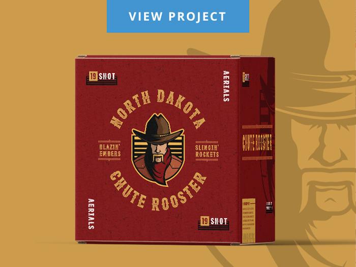 Packaging design for Starr Fireworks in North Dakota