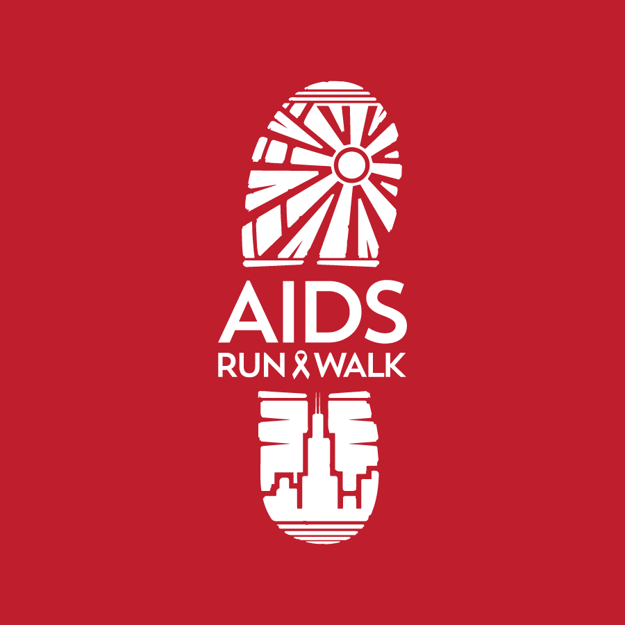Logo design for AIDS Run & Walk in Chicago, Illinois