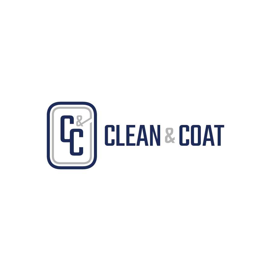 Commerical building cleaner monogram logo for Clean & Coat