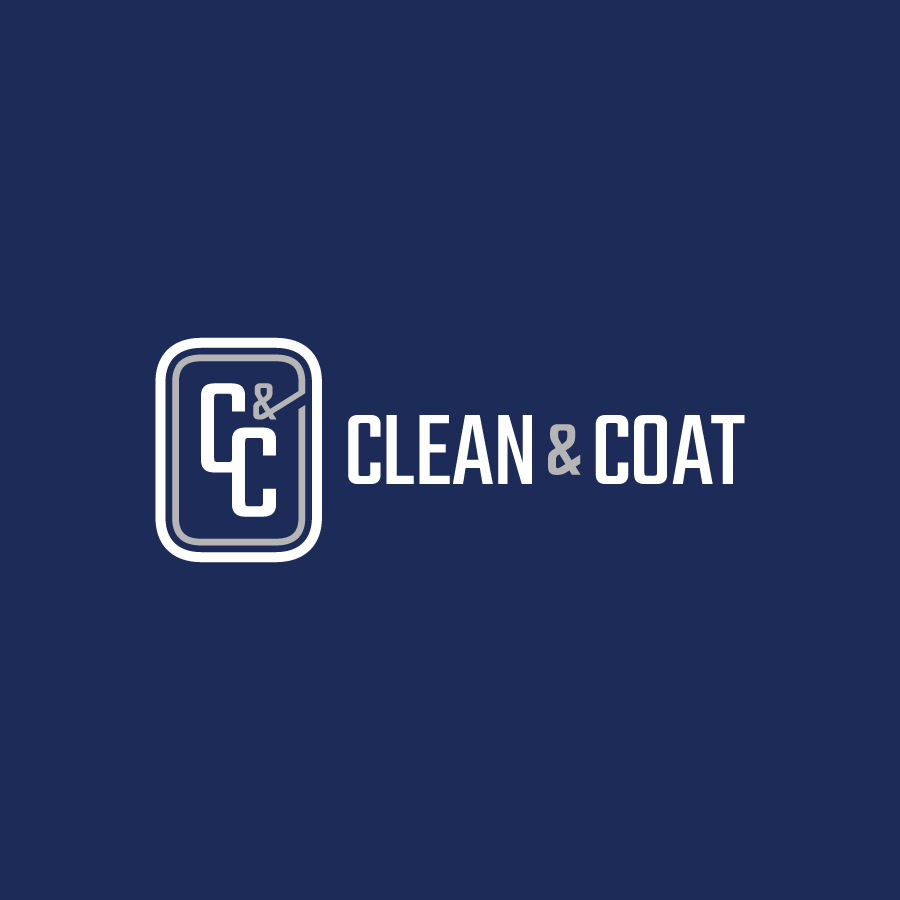 Commerical building cleaner logo for Clean & Coat