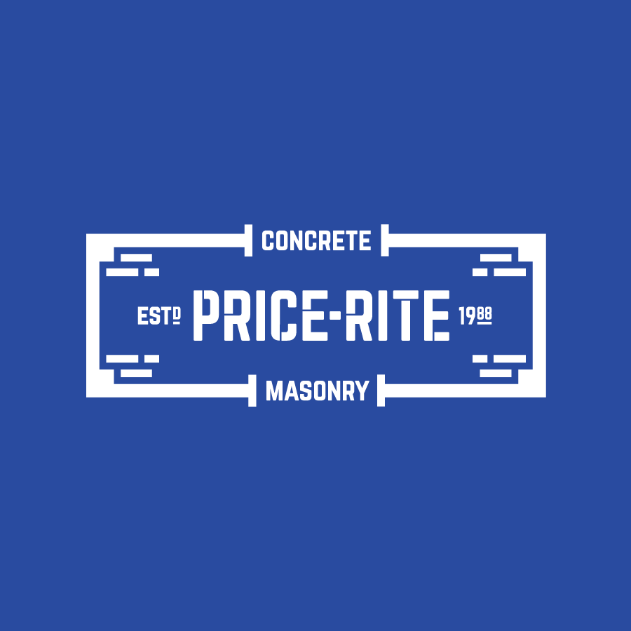 Masonry and concrete logo design for Price-Rite