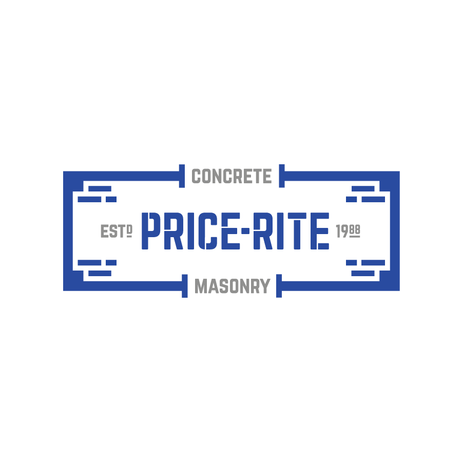 Masonry and concrete badge logo design for Price-Rite