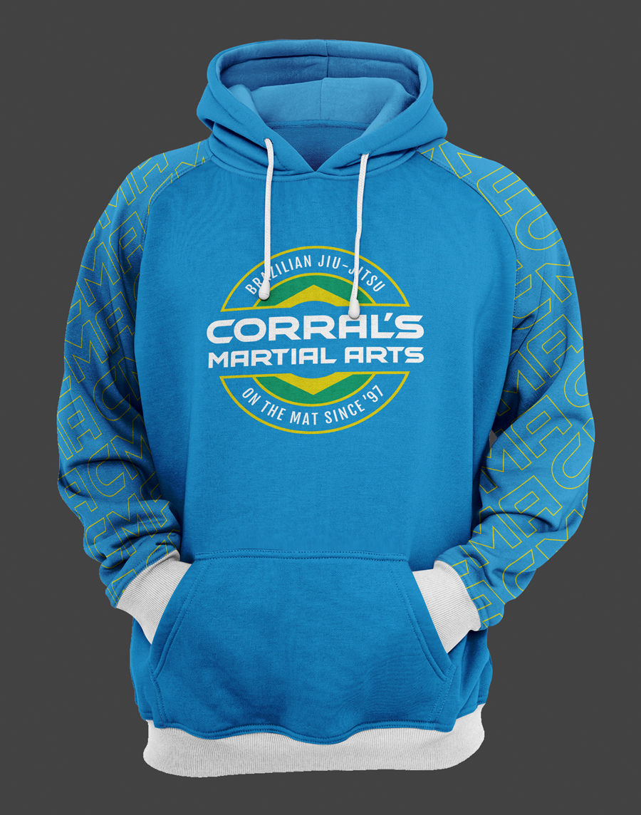Pullover hoodie design for Corral's Martial Arts in Northwest Indiana