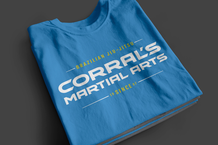 Apparel design for Northwest Indiana martial arts gym, Corrals Martial Arts