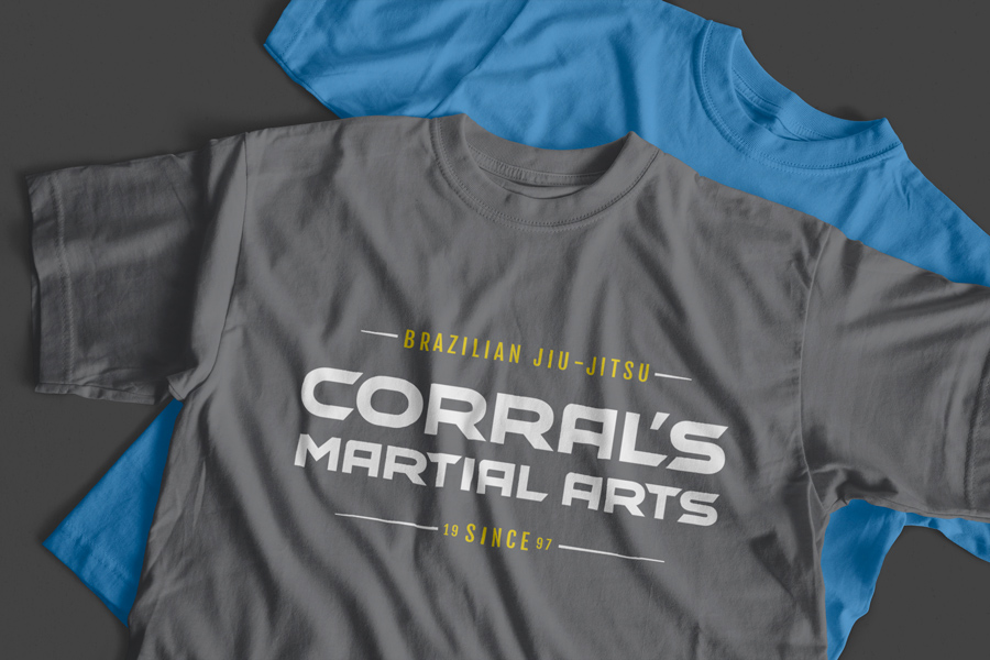T-shirt design for Northwest Indiana martial arts gym, Corrals Martial Arts