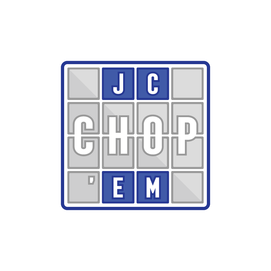 Hip-hop producer illustrative logo for JC Chop Em'