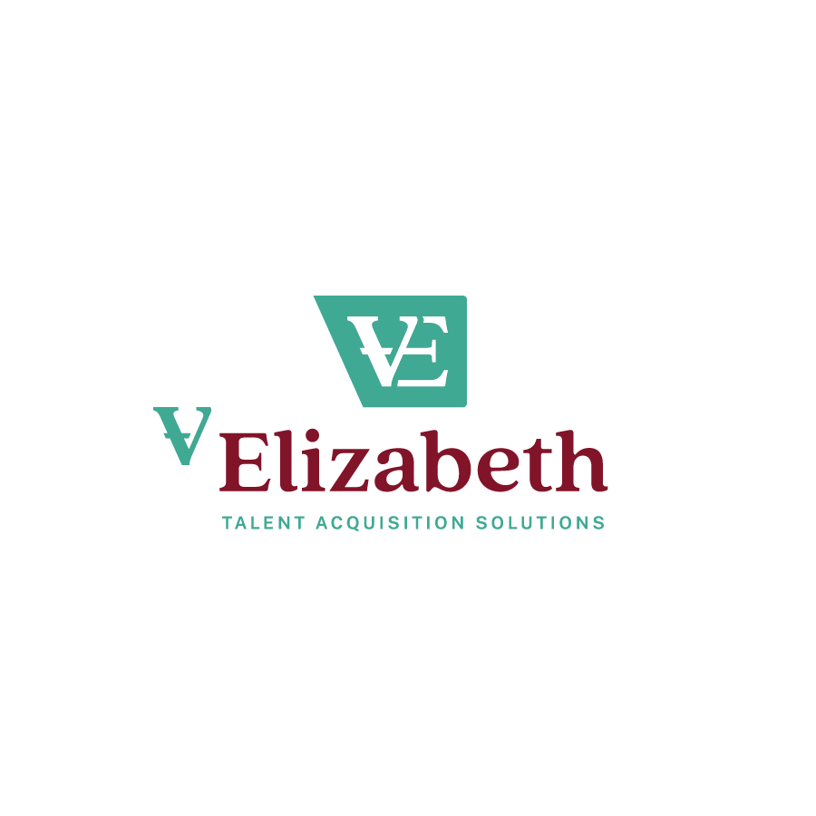 Staffing Agency monogram logo design for V Elizabeth Talent Acquisition Solutions