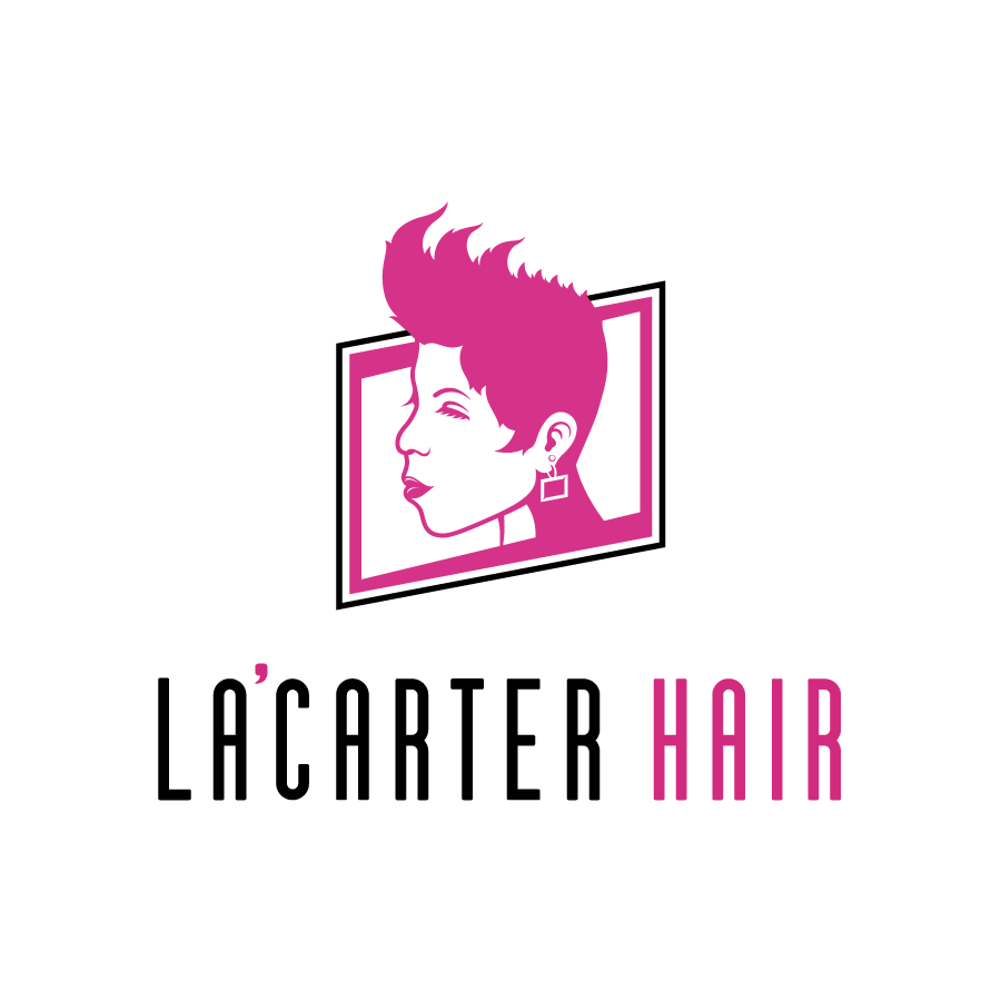 Hair Salon illustrative logo design for La'Carter Hair in Merrillville, Indiana