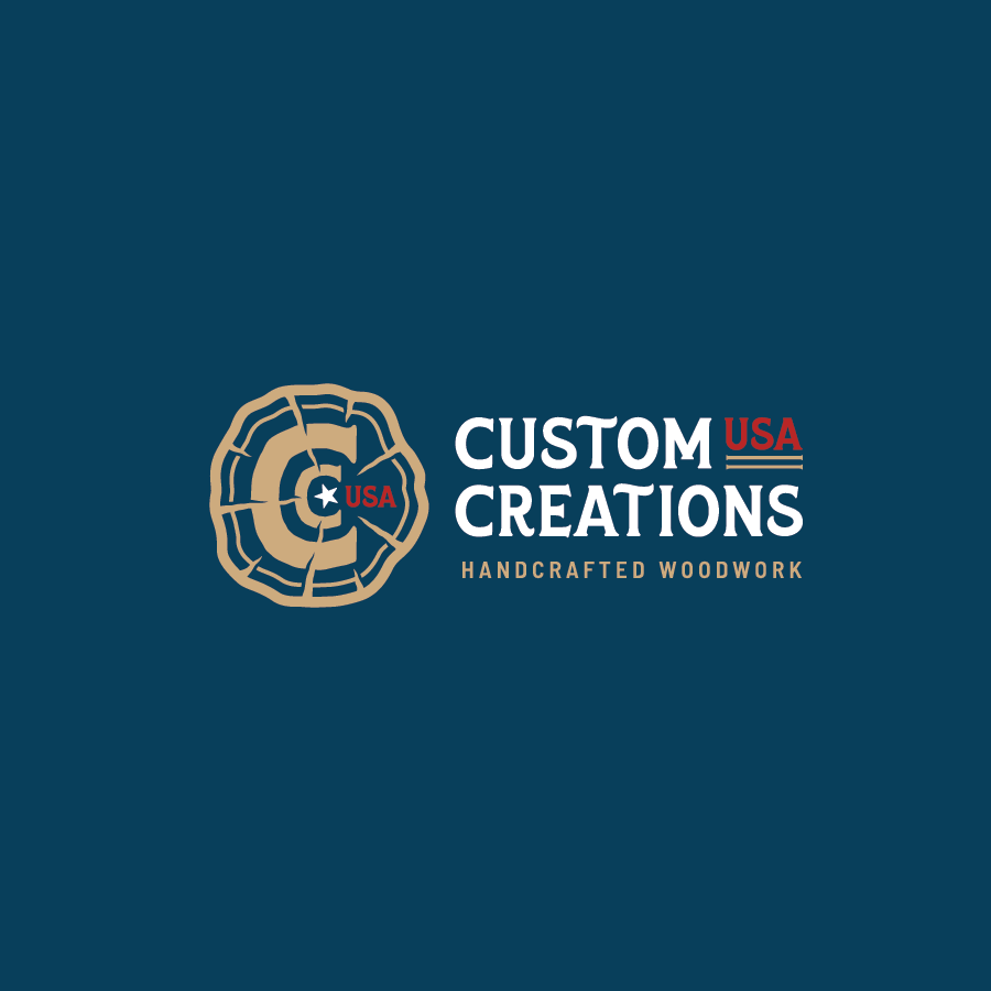 Logo design for Custom Creations Handcrafted Woodworking