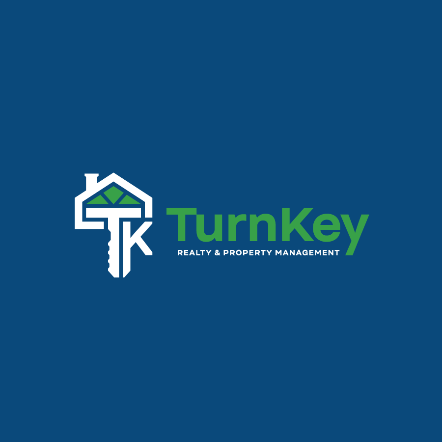 Real estate monogram logo design for Turn Key Real Estate Management