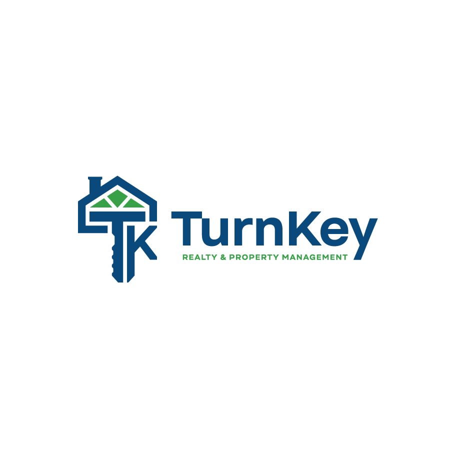 Real estate monogram logo design for Turn Key Realty and Property Management
