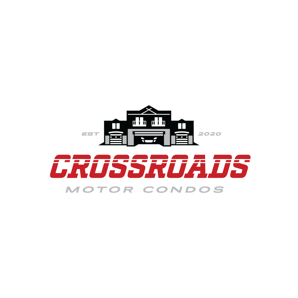 Automotive condo logo for Crossroads Motor Condos in St.John, Indiana