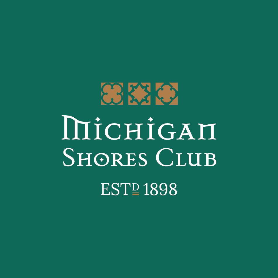Country club wordmark logo design for Michigan Shores Club