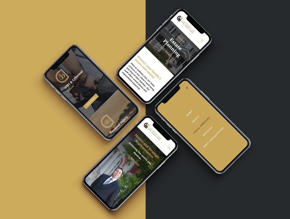 Mobile responsive website design for the legal offices of an Indiana lawyer