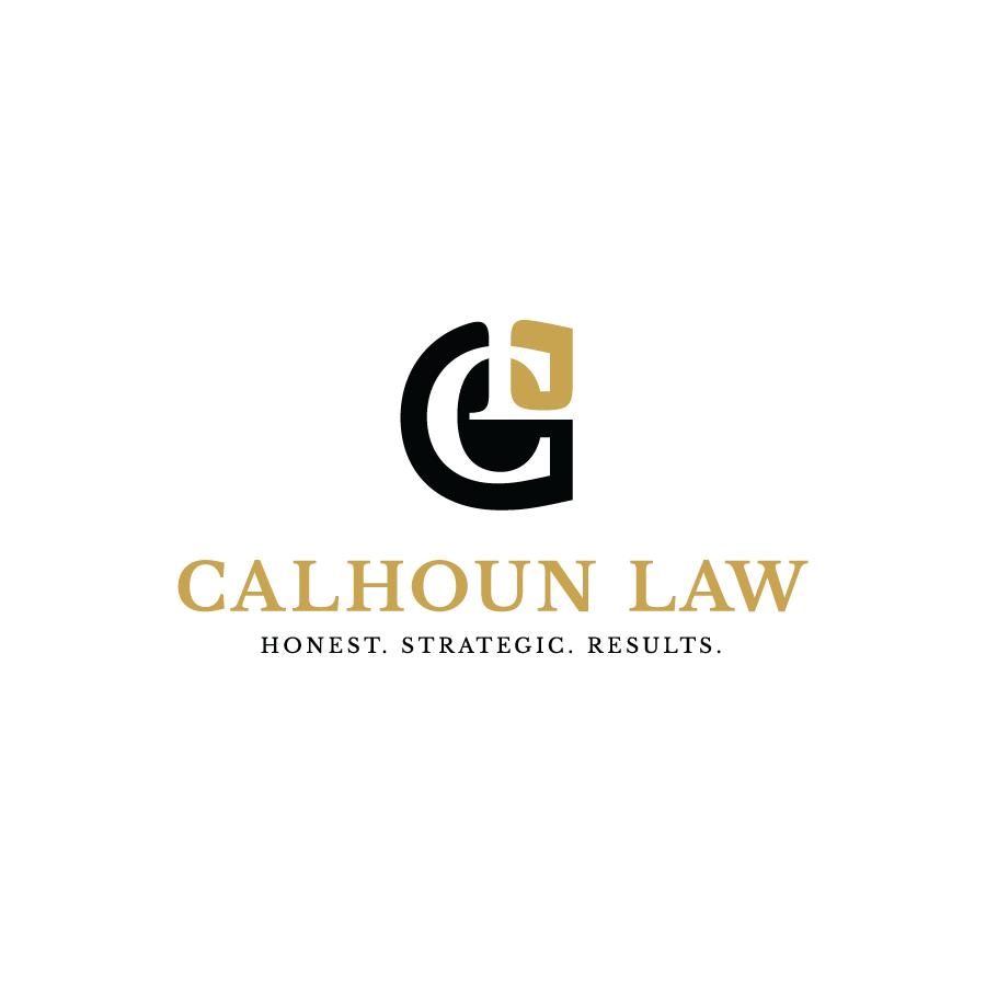 Mulit color law firm monogram logo design for Calhoun Law