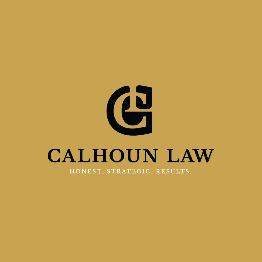 Black lawyer monogram logo design for Calhoun Law