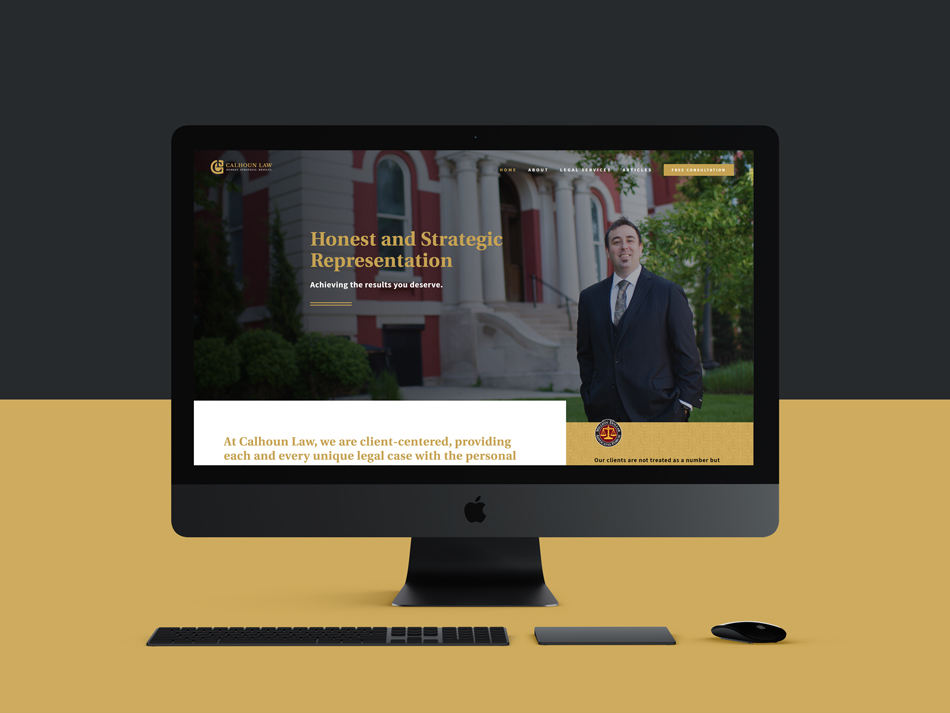 Law firm Website Design for Calhoun Law located in Crown Point, Indiana