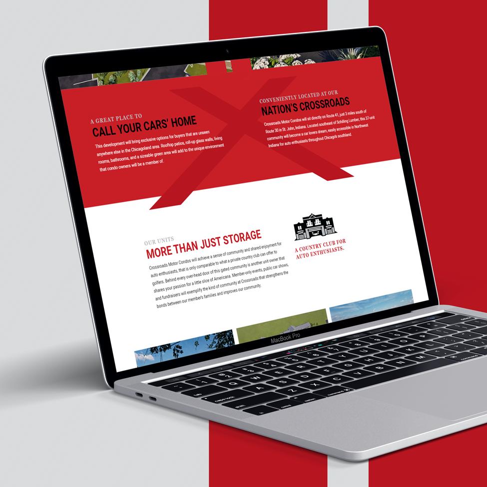 Laptop view of Crossroad Motor Condo's new website