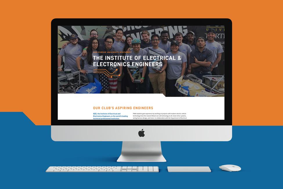 Website design for IEEE at Purdue University Northwest