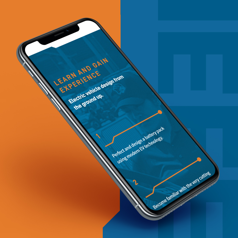 Mobile Layout of website design for IEEE at Purdue University Northwest