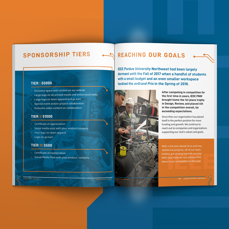 Sponsorship tiers for IEEE publication design