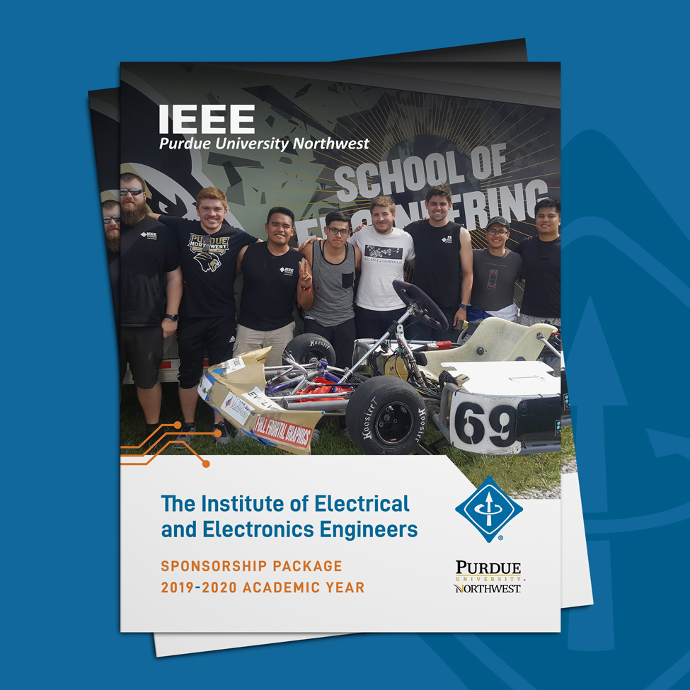 Sponsorship Packet cover design for IEEE at Purdue University Northwest