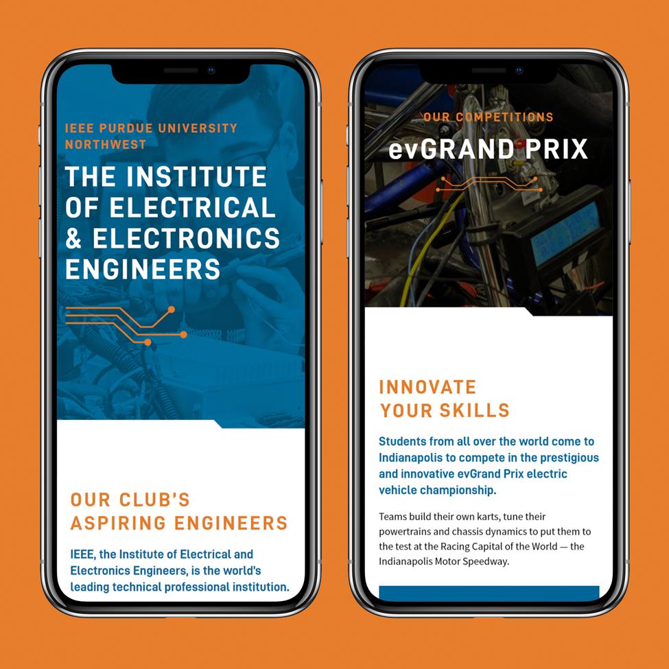 Double screen mobile website design for IEEE