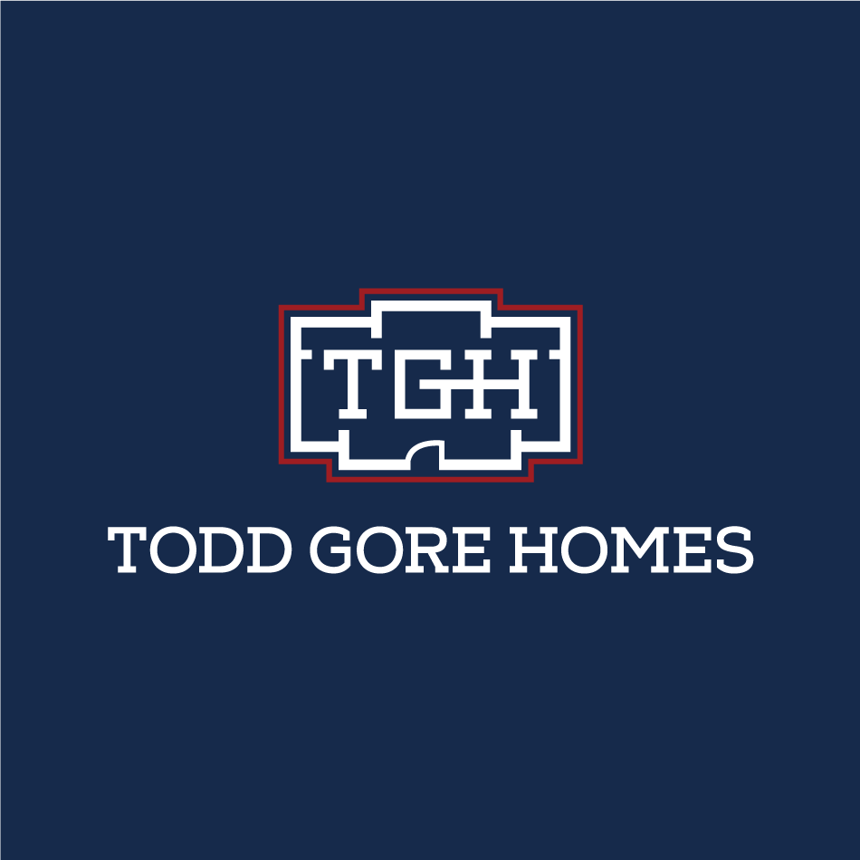 Home builder monogram logo design for Todd Gore Homes