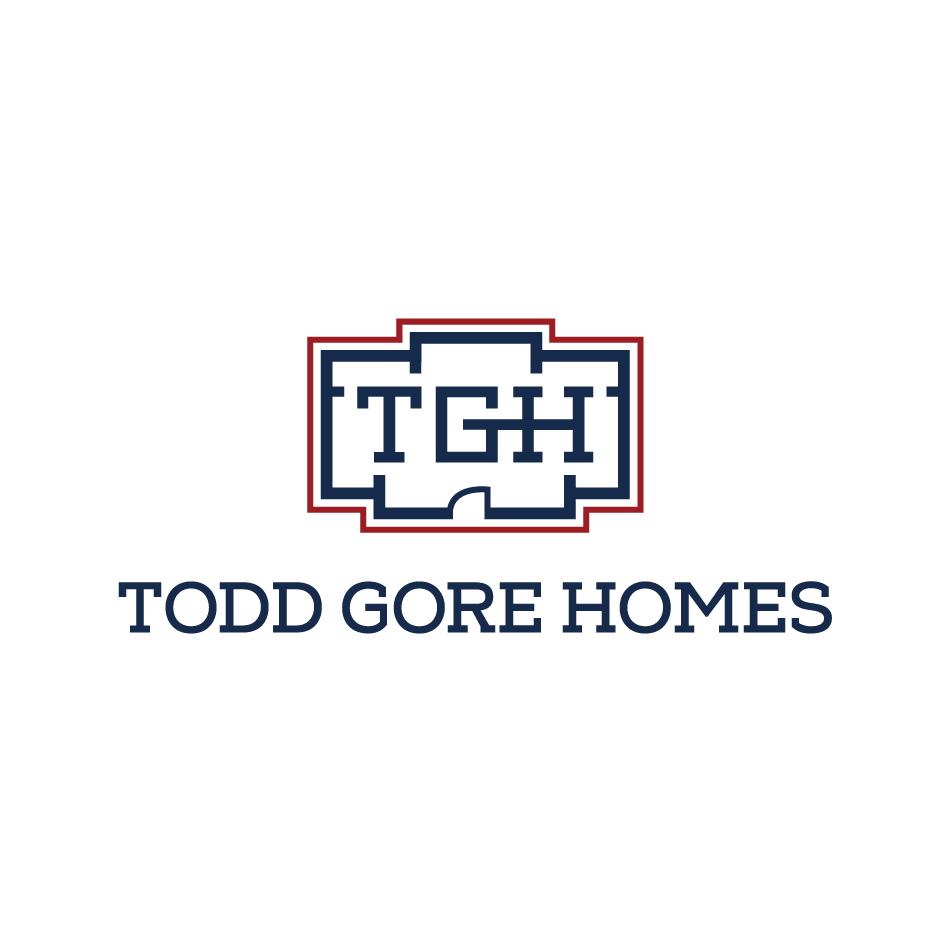 Custom Home builder monogram logo design for Todd Gore Homes