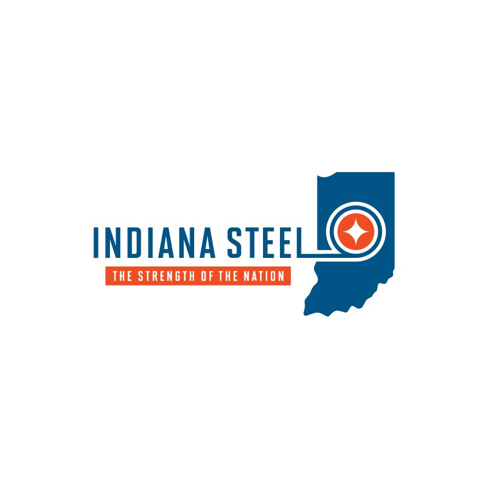 Indiana Steel Logo Design on White