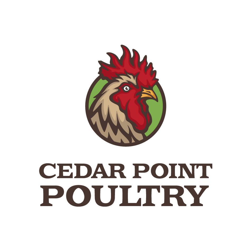 Chicken logo design for Cedar Pount Poultry