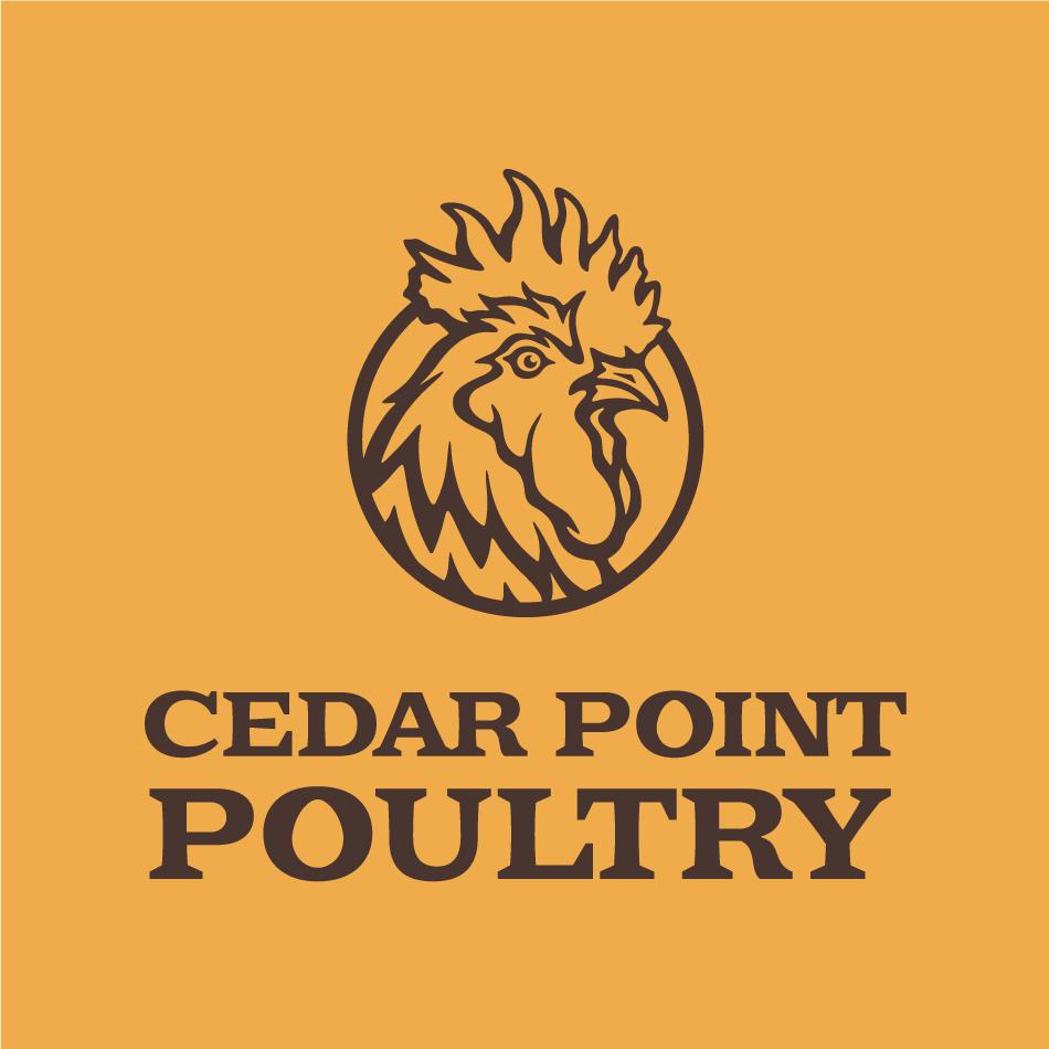 Illustrative chicken logo design for Cedar Pount Poultry
