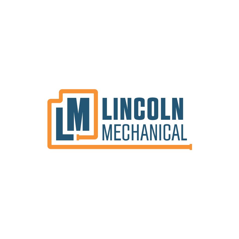 Lincoln Mechanical Combination Logo Design on White