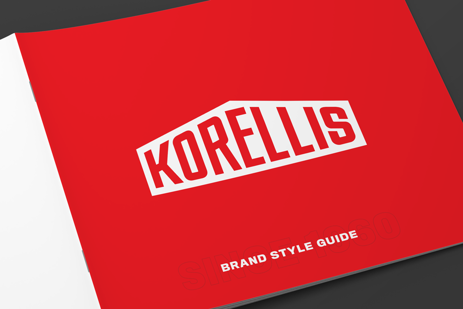Korellis Brand Guideline Booklet Cover Close-up