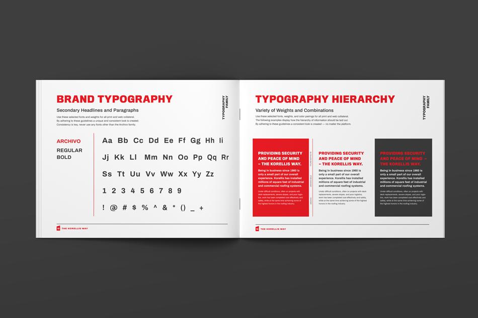 Korellis Brand Guideline Booklet Design, Brand Typography