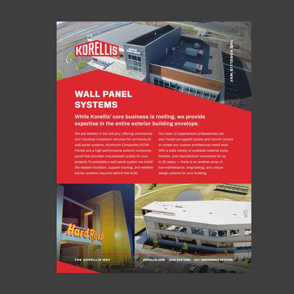 Korellis Wall Panel Systems Info Sheet Design