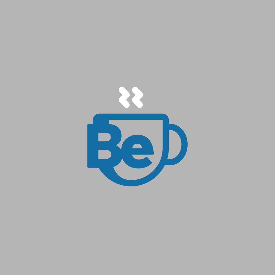 Just Be Coffee Roasters Monogram Logo on Gray